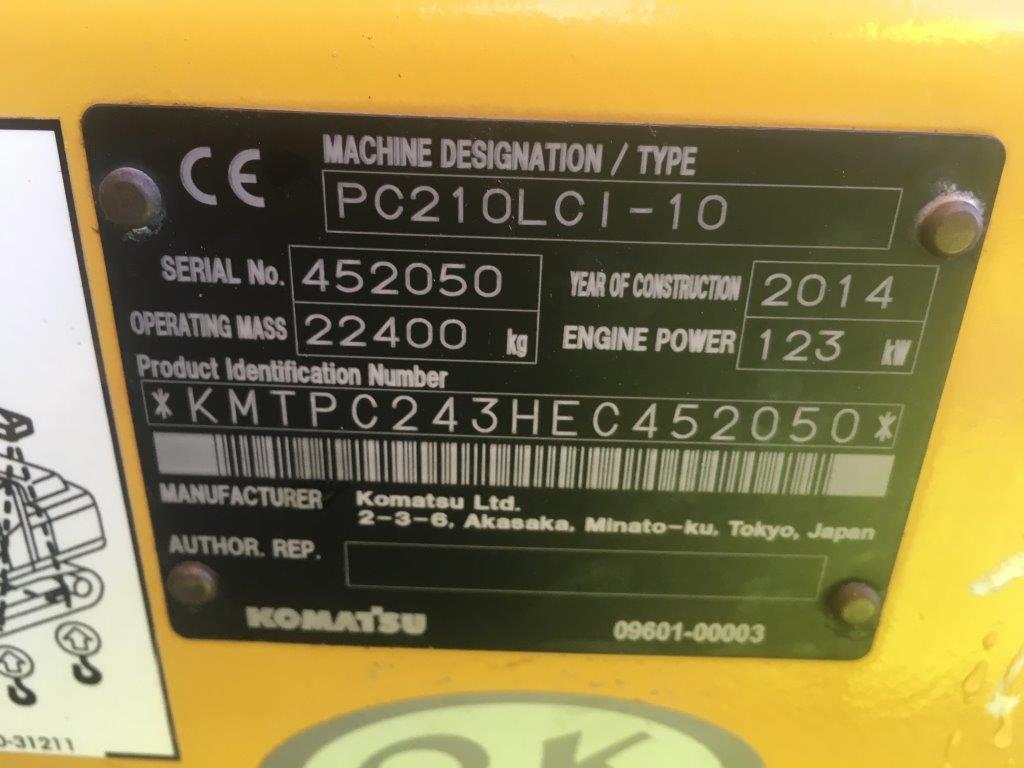 KOMATSU PC 210LCI-10 - 11