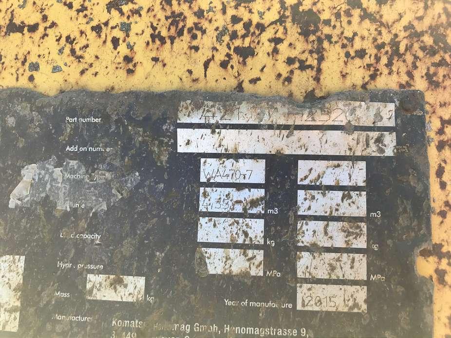KOMATSU 4,35 CBM LADESCHAUFEL, 3.000 MM BREIT - 06