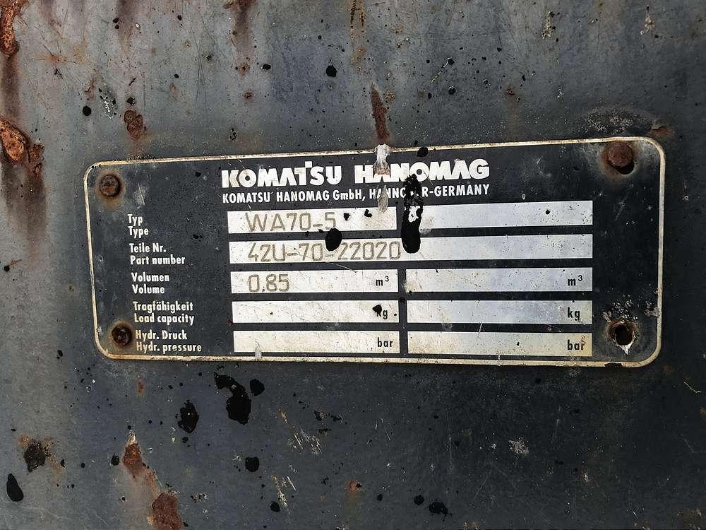 KOMATSU 0,85 CBM SCHAUFEL, 1.800 MM BREIT - 04