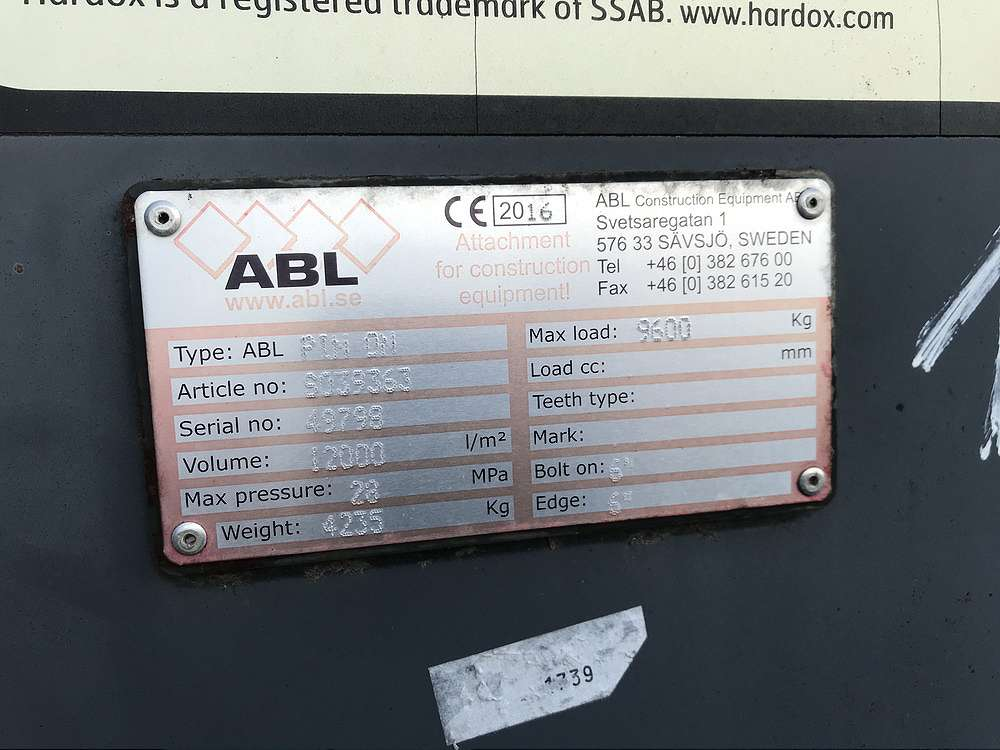 ABL 12 CBM HOCHKIPPSCHAUFEL, 3.700 MM BREIT - 05