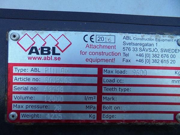 ABL 12 CBM HOCHKIPPSCHAUFEL, 3.700 MM BREIT - 06