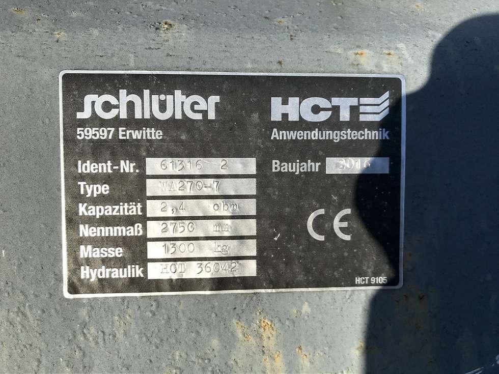 SCHLÜTER 2,4 CBM SCHAUFEL, 2.750 MM BREIT - 04