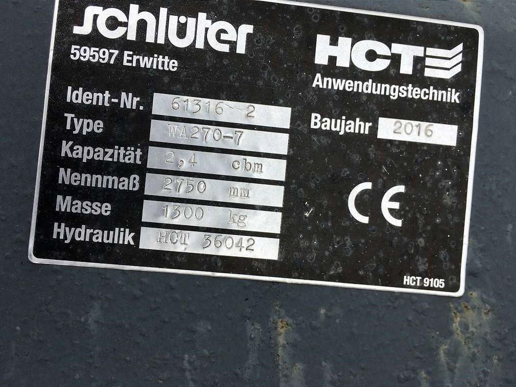 SCHLÜTER 2,4 CBM SCHAUFEL, 2.750 MM BREIT - 05