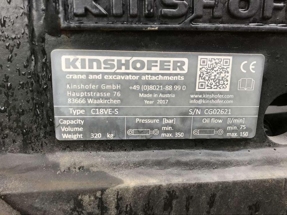 KINSHOFER C18VE-60 GRABGREIFER, AUFNAHME MS10 - 05
