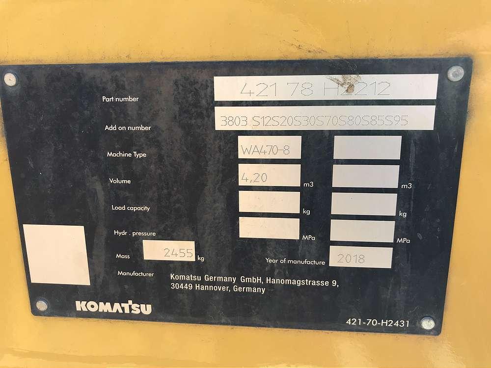 KOMATSU 4,2 CBM LADESCHAUFEL, 3.000 MM BREIT - 04