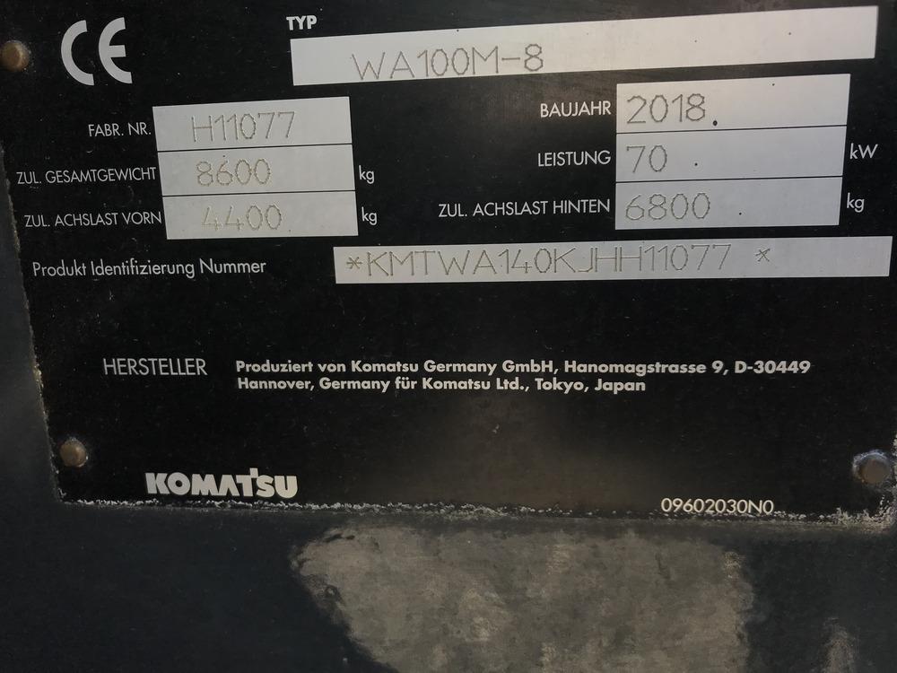 KOMATSU WA 100 M-8 - 18
