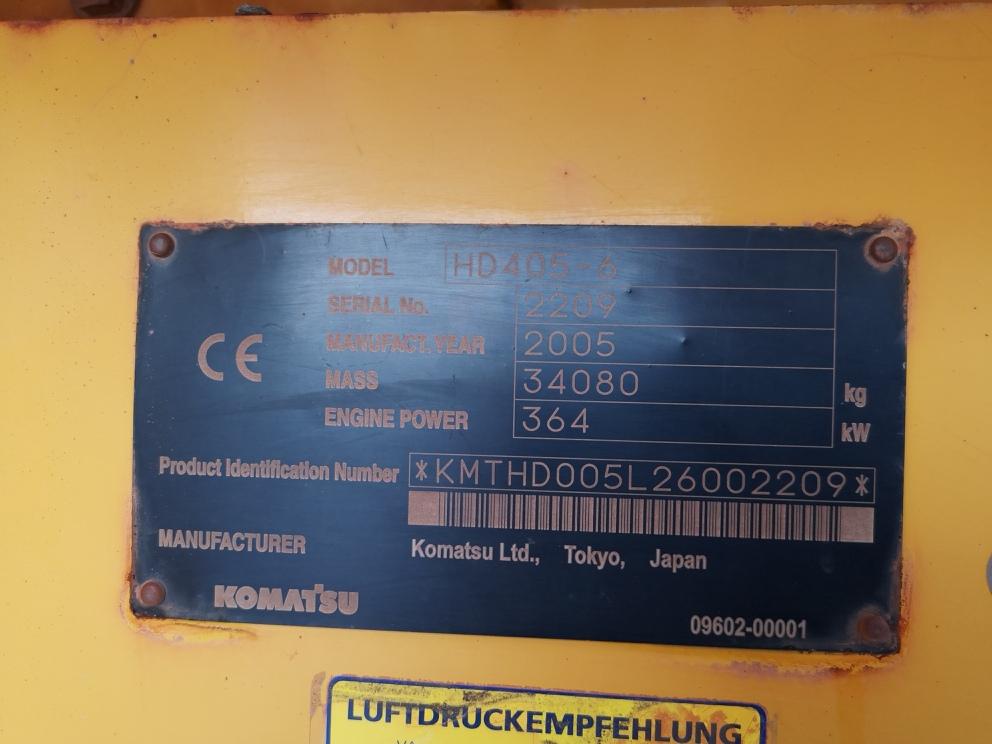 KOMATSU HD 405-6A - 10