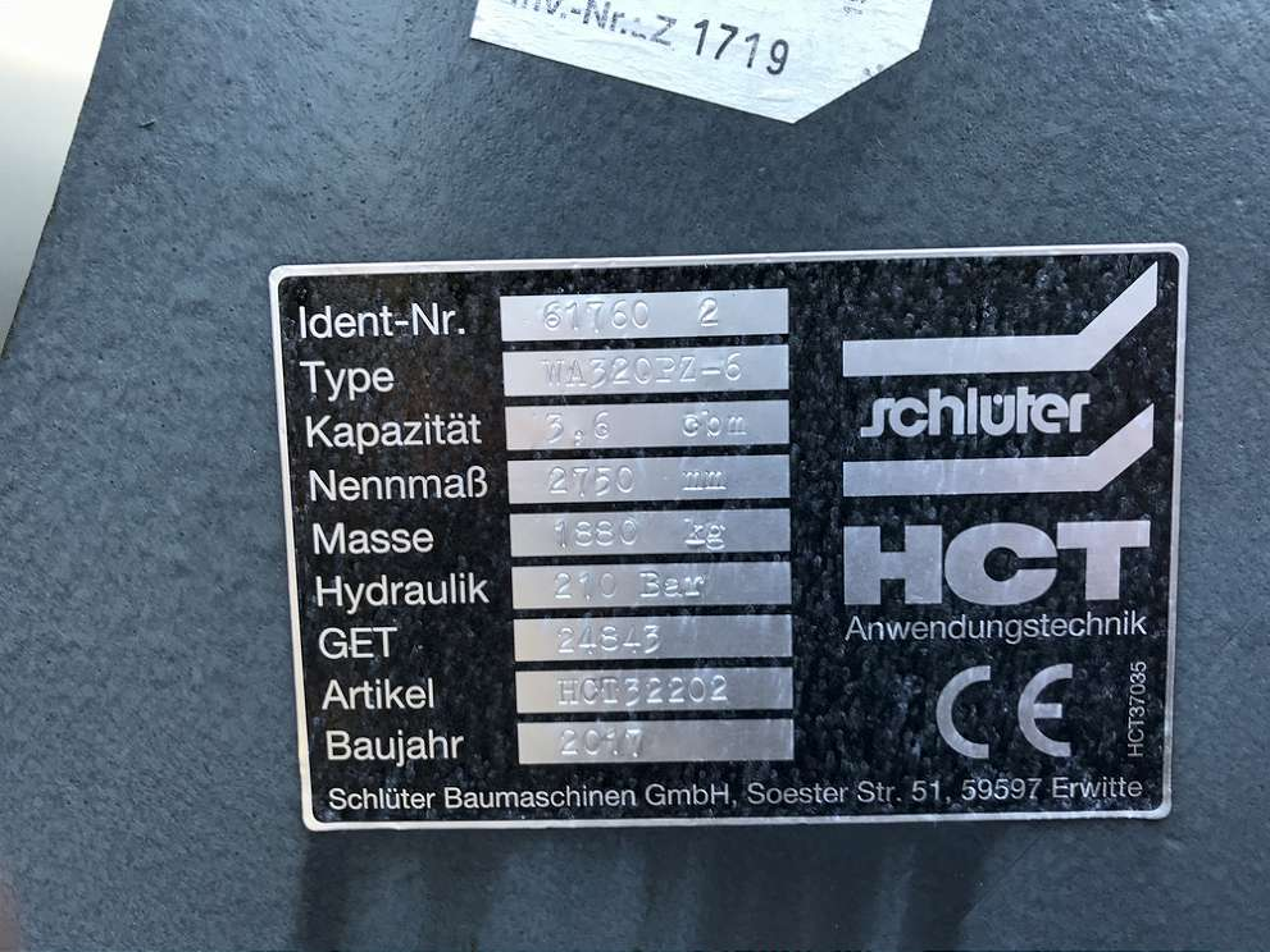 SCHLÜTER 3,6 CBM HOCHKIPPSCHAUFEL, 2.750 MM BREIT - 04