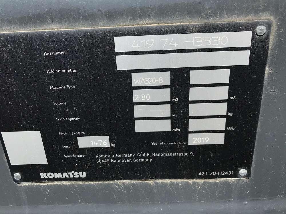 KOMATSU 2,8 CBM LADENSCHAUFEL, 2.750 MM BREIT - 03