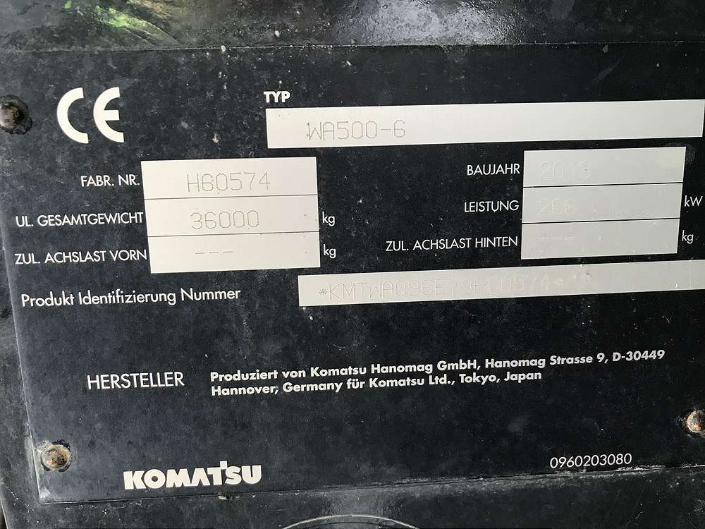KOMATSU WA 500-6 - 15
