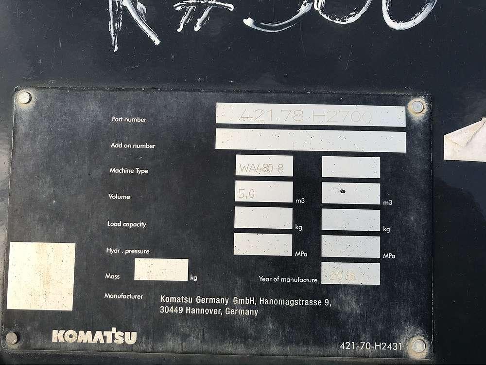 KOMATSU 5,0 CBM SCHAUFEL - 05