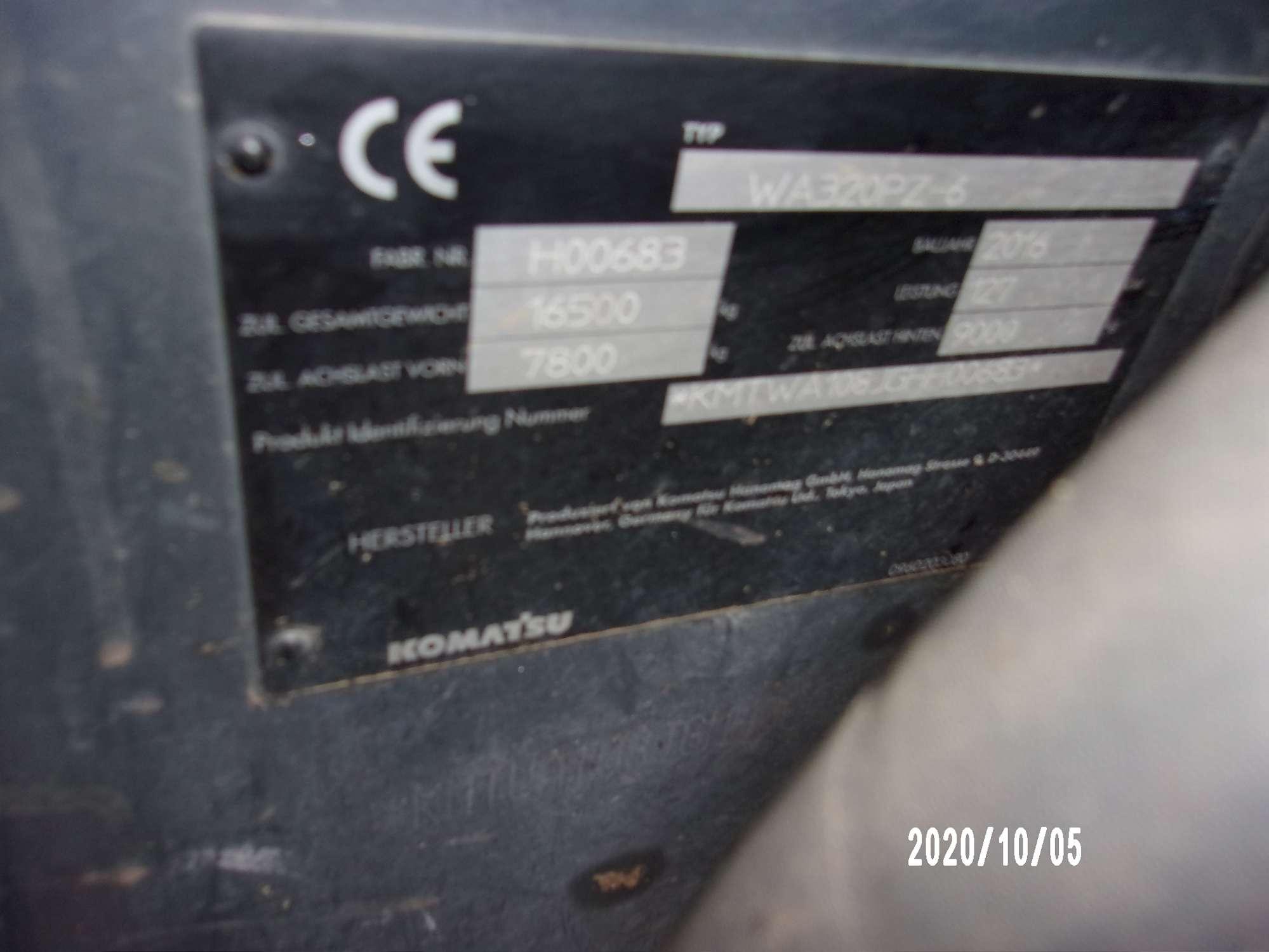 KOMATSU WA 320 PZ-6 - 20
