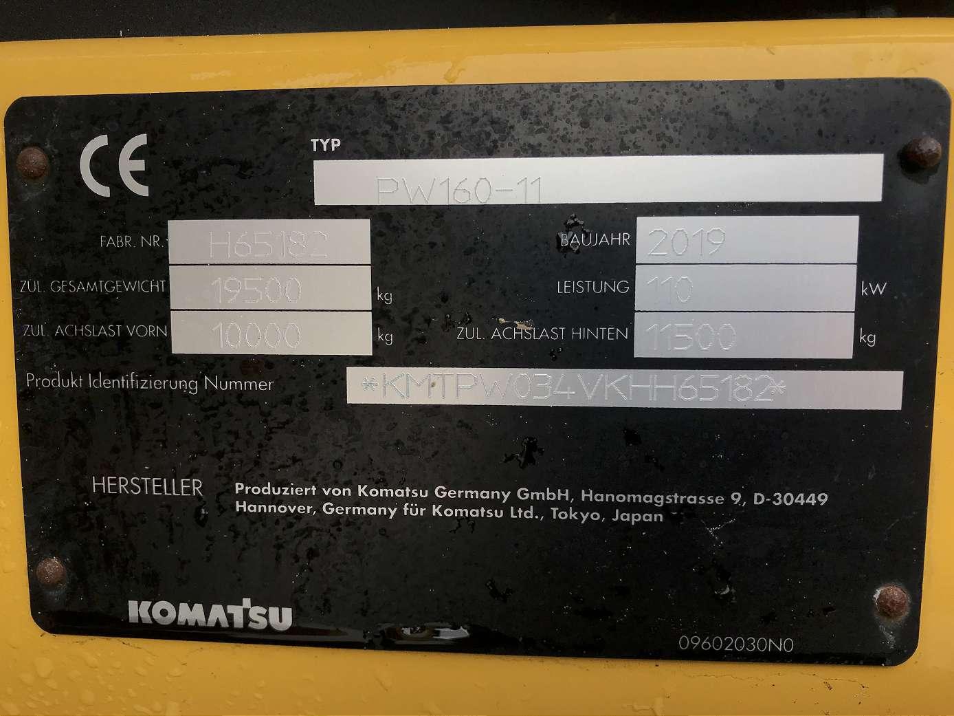 KOMATSU PW 160-11 - 10