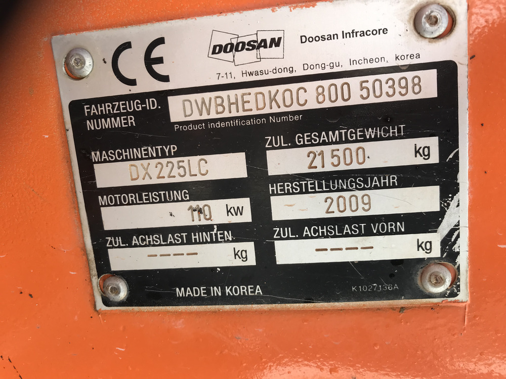 DOOSAN DX 225 LC - 20