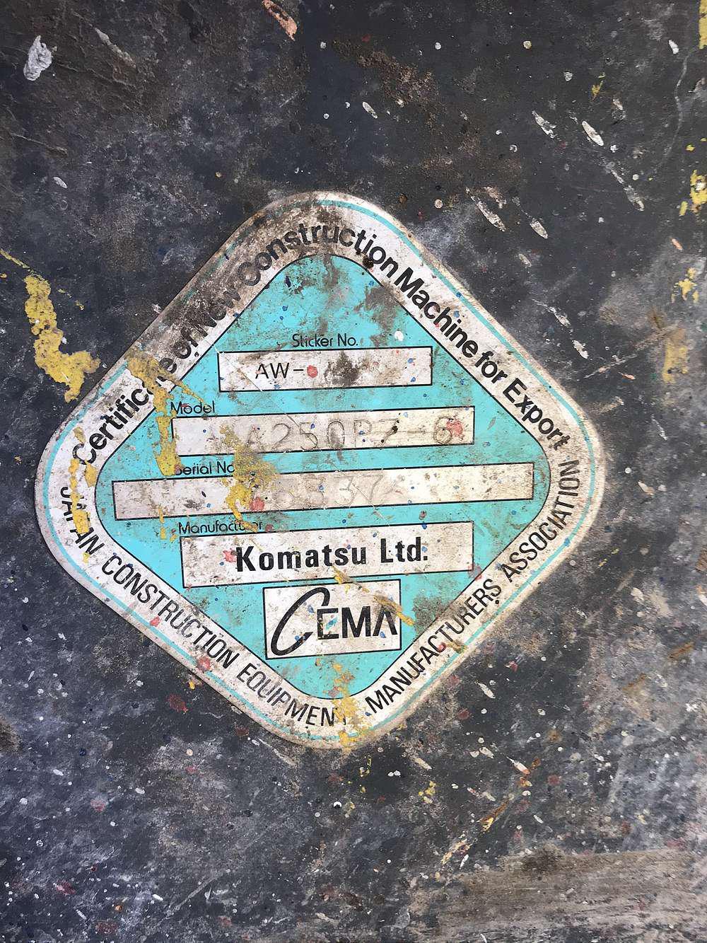 KOMATSU WA 250 PZ-6 - 10
