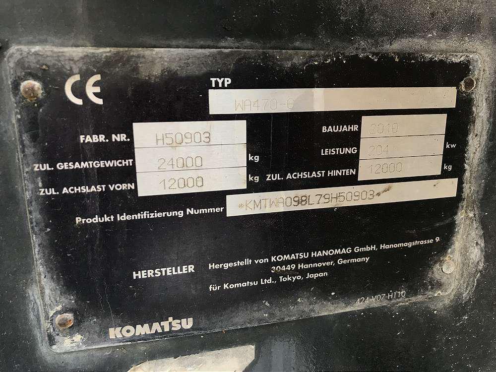 KOMATSU WA 470 LC-6 - 12