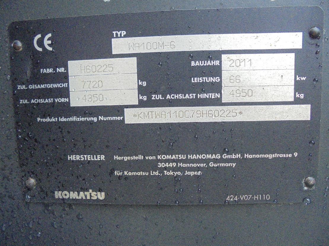 KOMATSU WA 100 M-6 - 12