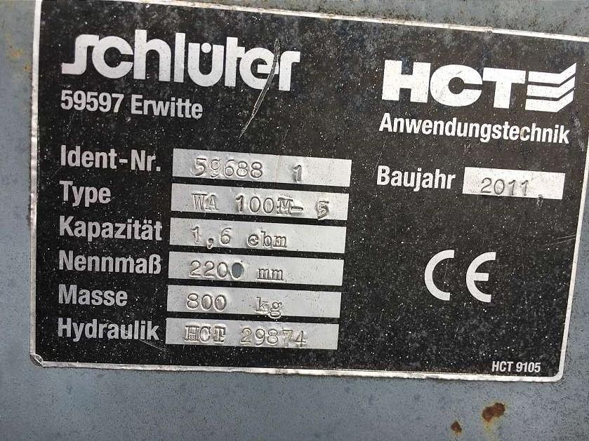 SCHLÜTER 1,6 CBM LEICHTGUTSCHAUFEL, 2.200 MM - 05