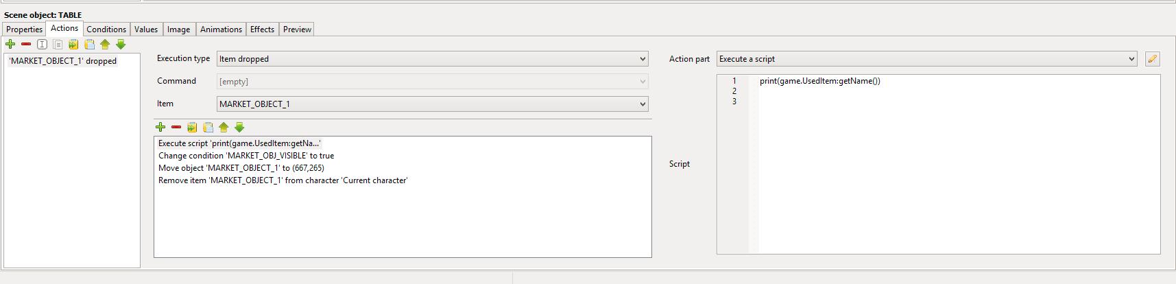 LUA Script to access dropped item name