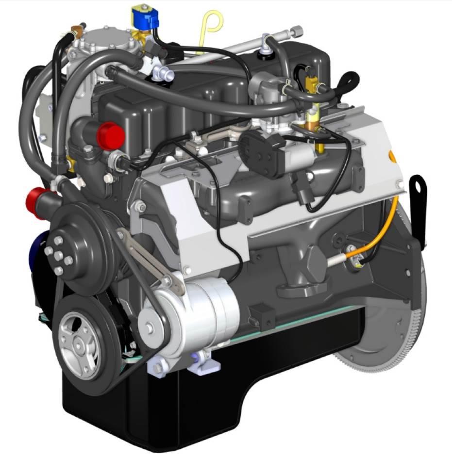 PSI-GM-Motor 3,0L kompl.mit EControls- Anlage.elehtr.Zündanlage