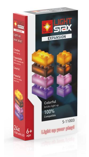 STAX® Expansion Pack - orange, brown, purple & pink - LEGO®-kompatibel