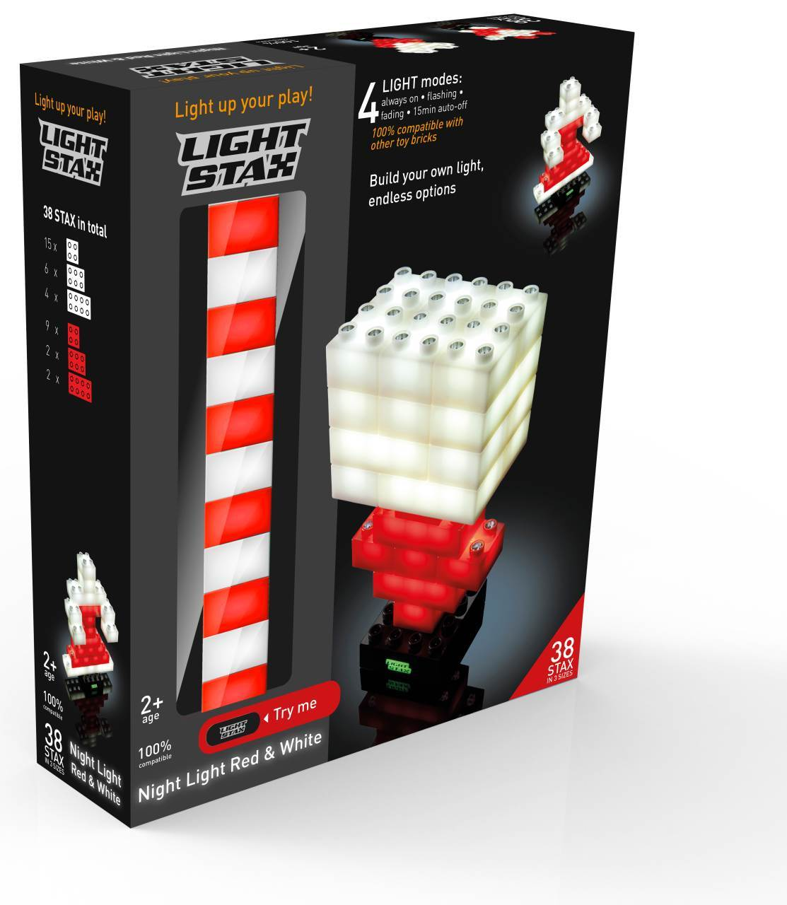 STAX® Night Light Red & White - DUPLO®-kompatibel