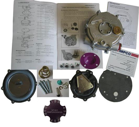 Impco-Rep-Satz RK-K-D für Cobra & MD-Regler mit UVV-Aufkleber in Jahresfarbe