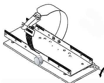 Flaschenhalter kippbar Schraubsicherung 515x305x380mm