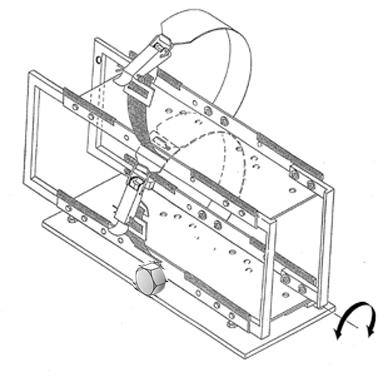 Doppelflaschenhalter übereinander kippbar mit Schraubsicherung  710x305x740mm