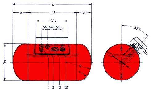 Treibgastank Stako TB116 360 x 1265 - Graue Ausführung -