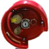 Treibgastank FLT TF 15 / 300 x 720 rot, 80% Füllstopventil, liegende flüssige Befüllung & Entnahme. Mit SRG