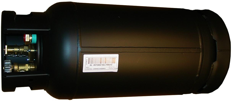 Treibgastank Stako TF 15 300 x 695 (schwarz) 80% Füllstopventil. Liegende Befüllung & Entname mit SRG-Anzeige