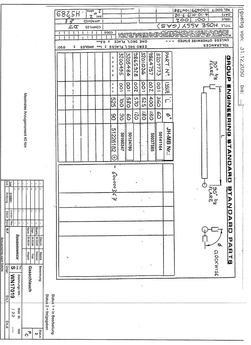 HD-Schlauch DIN 4815/4 525mm 2x DKJ5/8