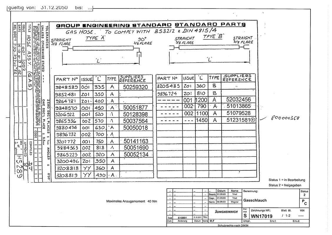 HD-Schlauch DIN 4815/4 1450mm DKJ5/8