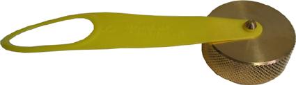 Staubkappe Füllventil (Messingdeckel mit Kunststofflasche)