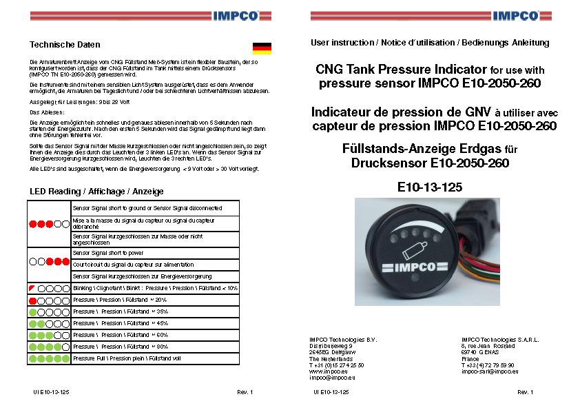 Tankinhaltsanzeige Erdgasmodul E10-13-125