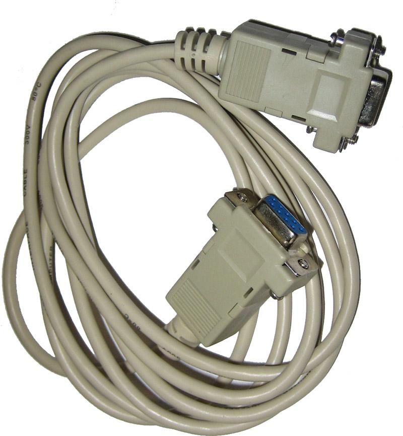 Kabel mit einer RS 232 Schnittstelle für den Infrarot-Abgastester HGA 200 / Digas 2000