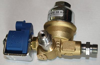 Gas Filter-Absperrventil 12V Typ 07 spez. Linde mit langem Edelstahlbolzen