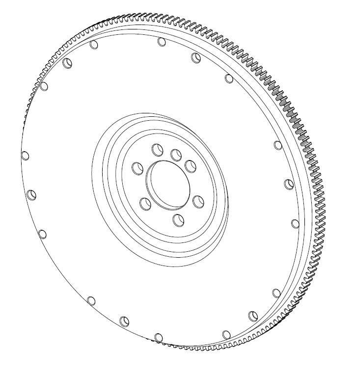 Zahnkranz für Schwungscheibe 4,3L GM Motor