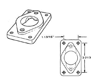 Impco Flansch A3-62 Ford Motor für Drosselklappenteil AT2-16-2 Rechteckflanschmaß: 94mm x 47mm