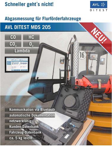 AVL DITEST MDS 205 - Abgastester für CO, CO2, HC, 02, Lambda  inkl. Blutooth-Anbindung mit Software , Laptop erforderlich
