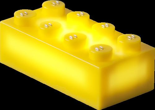 25 x STAX® 2x4 Gelb matt - LEGO®-kompatibel