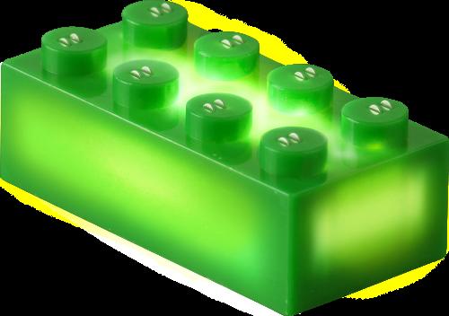 25 x STAX® 2x4 Grün matt - LEGO®-kompatibel