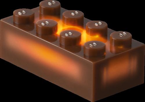 25 x STAX® 2x4 Braun matt - LEGO®-kompatibel