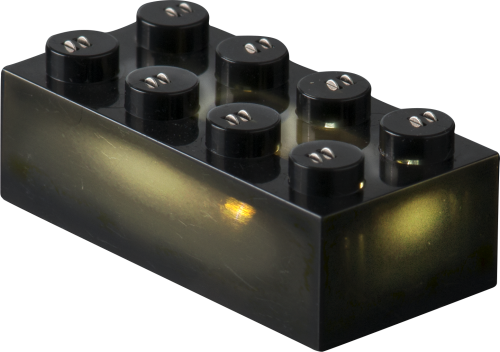 25 x STAX® 2x4 Schwarz matt - LEGO®-kompatibel