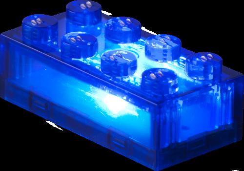 25 x STAX® 2x4 Blau transparent - LEGO®-kompatibel