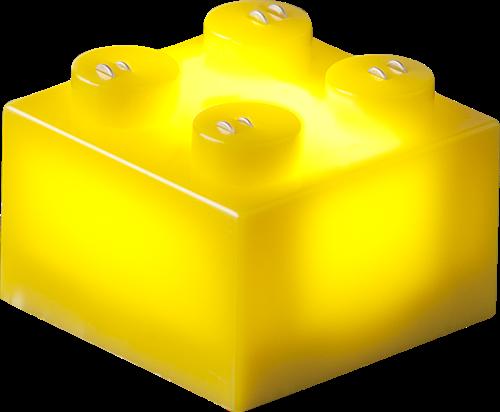 25 x STAX® 2x2 Gelb matt - LEGO®-kompatibel