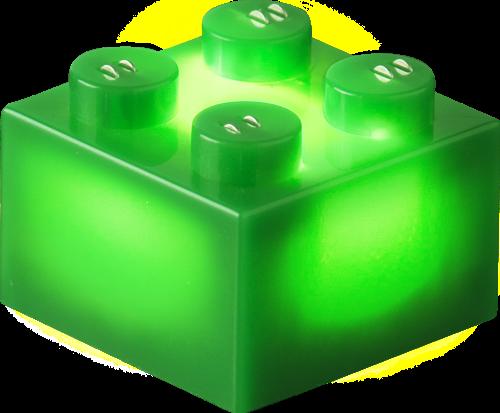 25 x STAX® 2x2 Grün matt - LEGO®-kompatibel