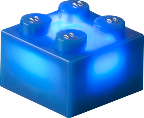 25 x STAX® 2x2 Blau matt - LEGO®-kompatibel