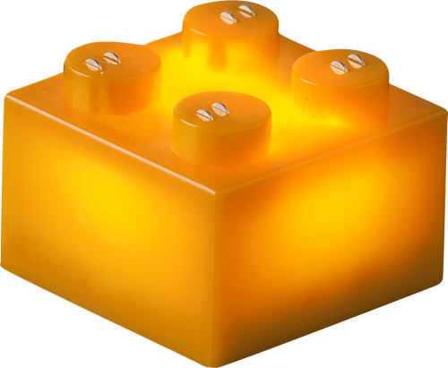 25 x STAX® 2x2 Orange matt - LEGO®-kompatibel